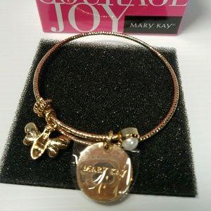 Bangle Bracelet W/ Charrns Gold Tone By Graziano